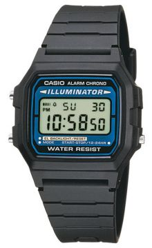 Casio Collection Multifunktionsuhr Stoppfunktion Tagesalarm F-105W-1AWYEFF