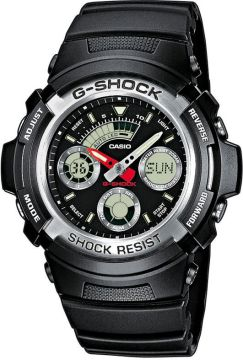 Casio G-Shock Speed Shifter Multifunktion schwarz 52 mm AW-590-1AER