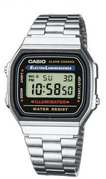 Casio Collection Herrenuhr Multifunktion ResinEdelstahl 39 mm A168WA-1YES