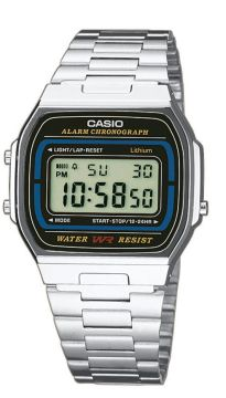 Casio Collection Multifunktion Edelstahlarmband A164WA-1VES